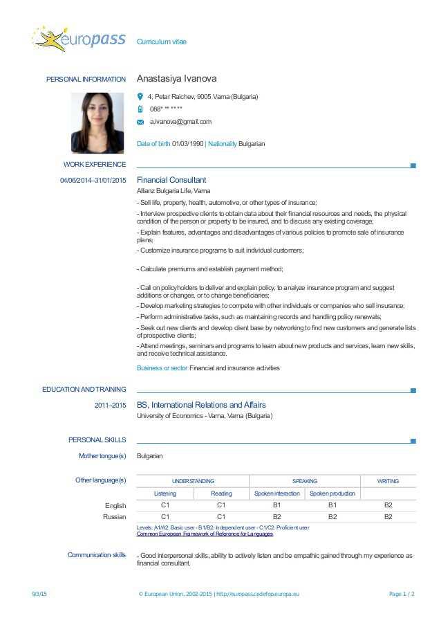 Curriculum Vitae European German Cppw Tk